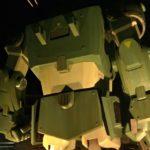 ライトアップされた稲城長沼の実物大スコープドッグ