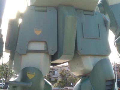 実物大スコープドッグ腰装甲板