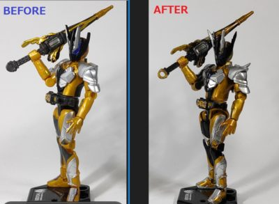 装動 仮面ライダーサウザー 改造前と改造後