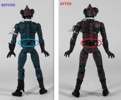 掌動 仮面ライダーアマゾン塗装追加箇所