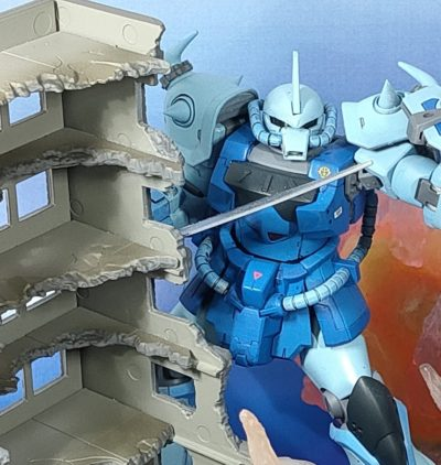 ジオコレ・コンバット 破壊されたビルA_11
